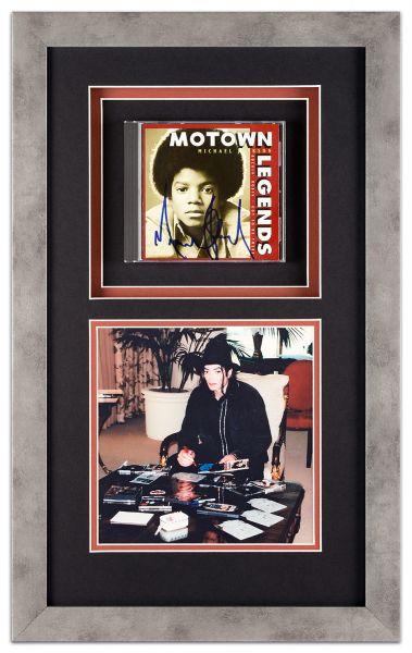 Objektrahmen mit signierter Michael Jackson CD